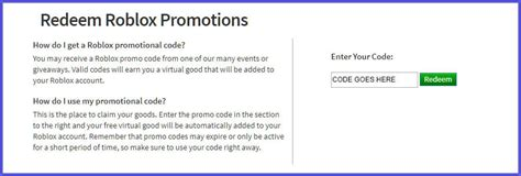 roblox promo codes  january updated