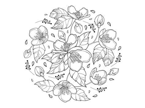 Round Bouquet With Jasmine Flowers. By Sorokina Yevheniia