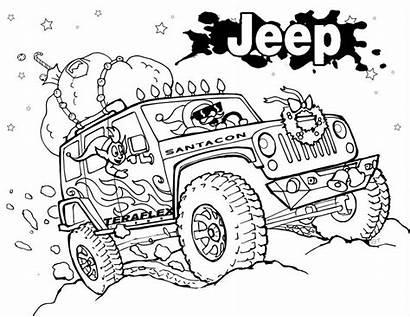 Jeep Coloring Wrangler Road Monster Kleurplaat Printable
