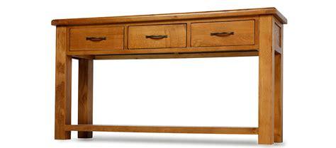 barham oak large console table quercus living