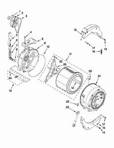 Tub And Basket Parts Diagram  U0026 Parts List For Model