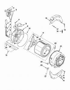Tub And Basket Parts Diagram  U0026 Parts List For Model