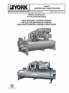 M E Centrifugal Liquid Chillers  Installation Instructions