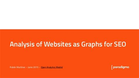 Explain Seo With Exle by Analysis Of Websites As Graphs For Seo