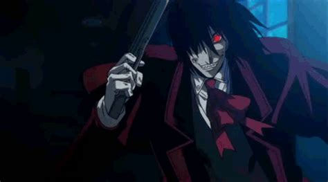 alucard laughing gif  gif images