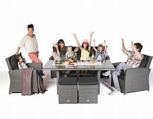 Dining Lounge Rattan : rattan lounge dining set die mischung aus esstisch und rattan lounge ~ Whattoseeinmadrid.com Haus und Dekorationen