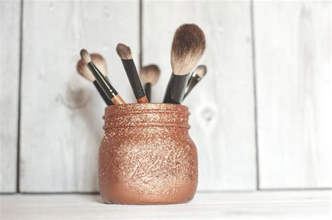 Diy Mason Jar Makeup Brush Holder Rl