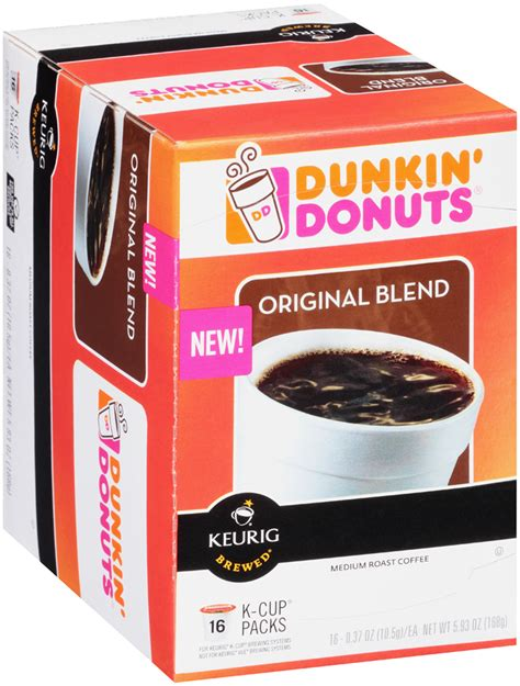 Brew the dunkin'® coffee you love at home sweet home. UPC 881334006476 - Dunkin' Donuts Original Blend Medium Roast K-Cups Coffee 5.93   upcitemdb.com