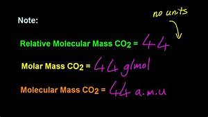 1.2 Define Relative Atomic Mass (Ar) and Relative ...