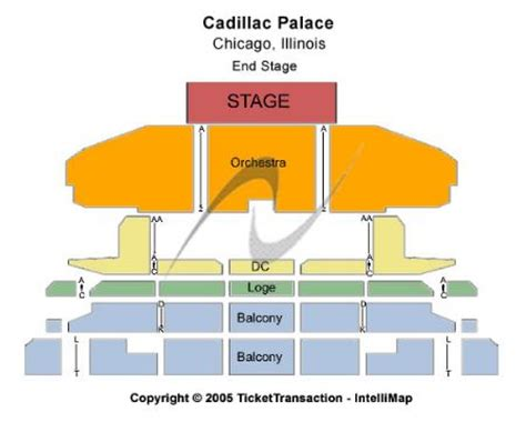 cadillac palace theatre master theater seating charts cadillac palace tickets and cadillac palace seating chart