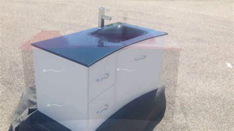 ensemble de meuble contemporain salle de bain lc avec vasque en verre tremp 233