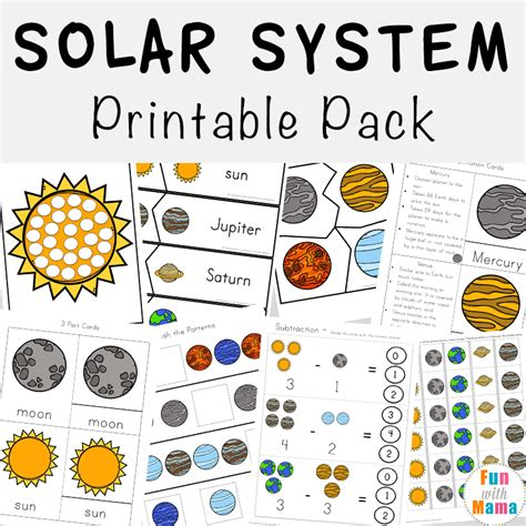 solar system for preschoolers lesson plans solar system printable worksheets and activities pack 400