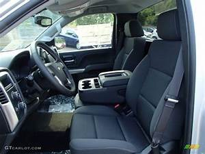 Jet Black Interior 2014 Chevrolet Silverado 1500 LT
