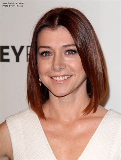 alyson hannigan  bob haircut   rounded