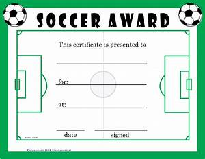 soccer award certificate template professional and high With soccer certificate templates for word