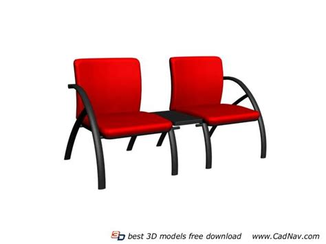 office visitor waiting chair 3d model 3dmax files free
