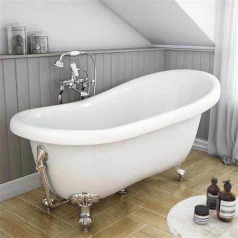 astoria roll top slipper bath chrome leg set mm