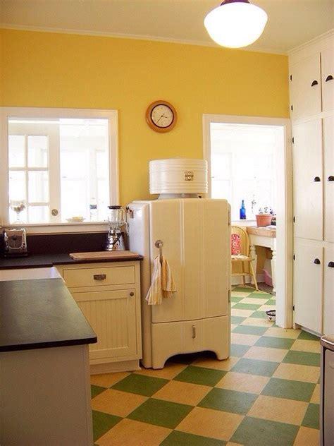 retro linoleum floor  kitchen