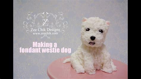 fondant polymer clay westie dog youtube