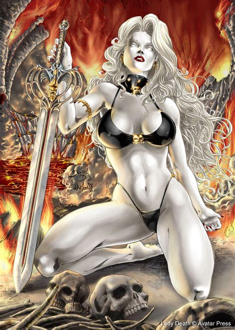 Ladydeath Leathelace Pinup By Sulamoon On Deviantart