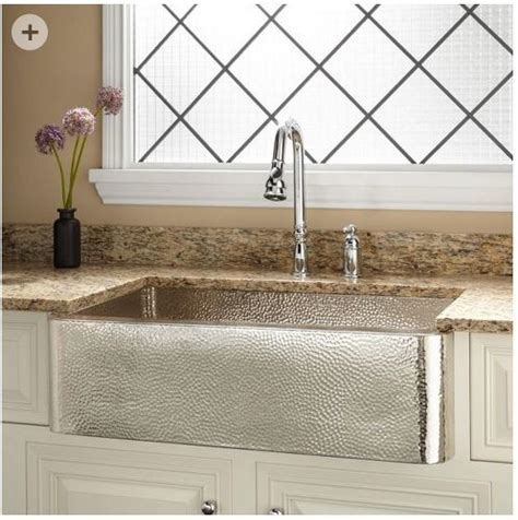 hammered kitchen sink should i buy a nickel plated hammered copper farmhouse 1536