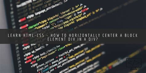 center a div horizontally learn html css how to center div horizontally