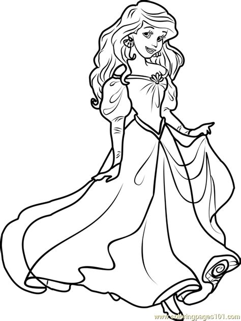 princess ariel coloring page  disney princesses coloring pages coloringpagescom