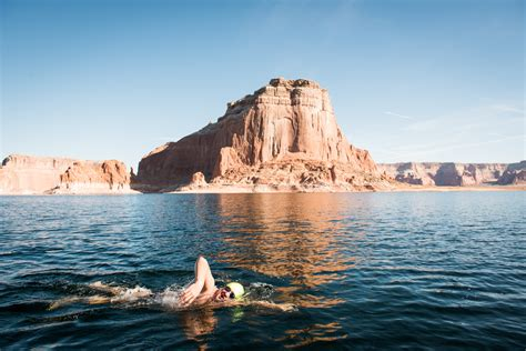 swimming vacation lake powell strel swimming