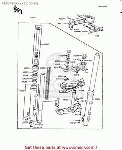 Kawasaki Kz1100a1 Shaft 1981 Usa Canada Front Fork  Kz1100
