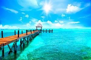 Steg, Am, Meer, Karibik, Malediven, Bild, Xxl, Poster, Foto