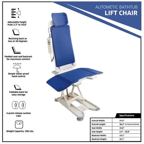 adirmed bath lift automaticly elevates free shipping