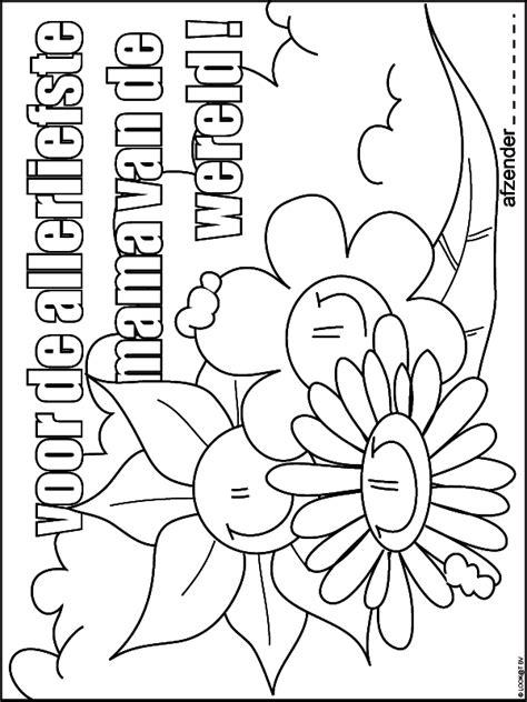 Kleurplaat Moederdag Versje by Kleurplaat Hart Valentijn Moederdag Vaderdag
