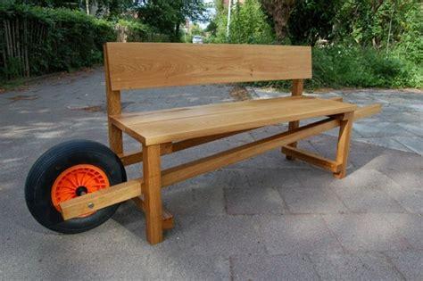 creative garden bench  wheel home design garden