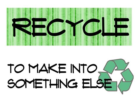 The 3 R's Of Recycling Printables  Squarehead Teachers
