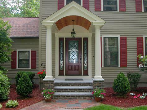 colonial front porch designs hancock building associates inc chelmsford ma 01824