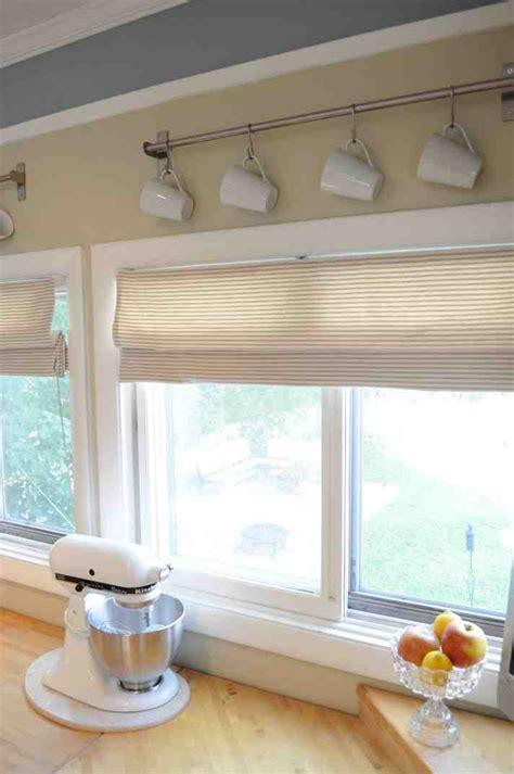 diy kitchen window treatments decor ideas