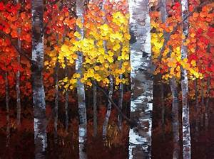 Palm Birch Tree Paintings for Main Home Beauty — JESSICA Color