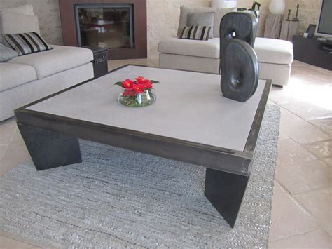 table de salon en beton cire table de salon en beton cire gris souris cadre pied en acier photo de beton cire le