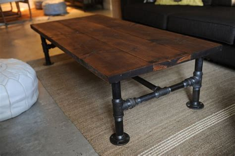 diy industrial coffee table with plumbing pipe base how to diy industrial coffee table home design garden Diy Industrial Coffee Table With Plumbing Pipe Base