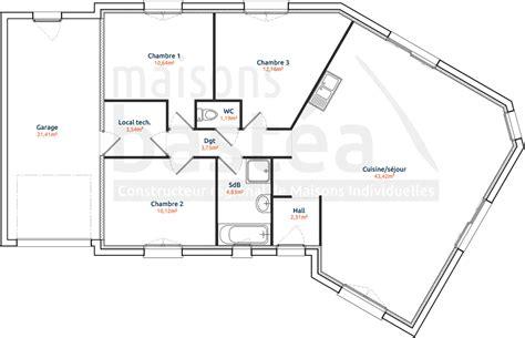 plan maison 90m2 3 chambres plan maison 90m2 plain pied 3 chambres 14 cassandre 1