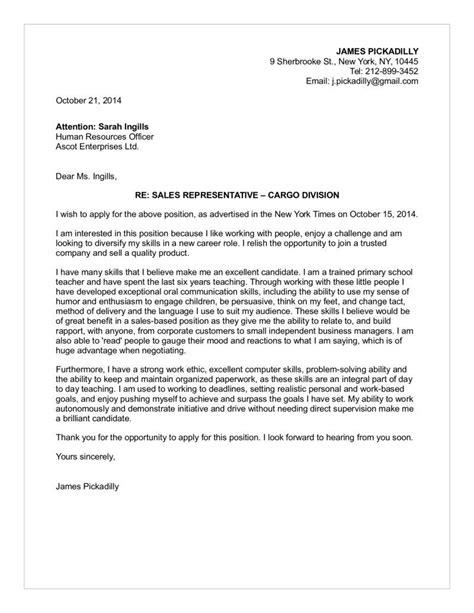 time sale cover letter sales representative cargo division cover letter