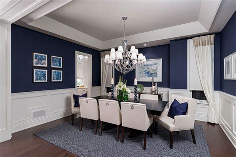 what a luxurious dining room design love the wall color