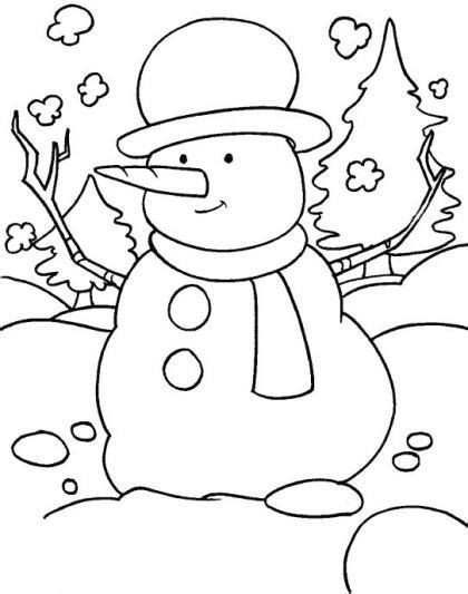 winter season coloring page   winter season