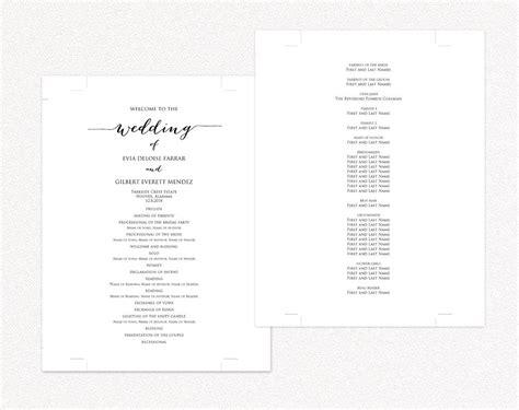 wedding programs 183 wedding templates and printables
