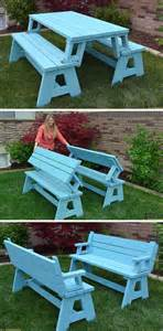 Bench That Turns Into Picnic Table by Convertible Picnic Table And Bench Her Tool Belt