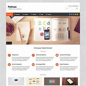 pytheas free responsive corporate portfolio wordpress theme With what wordpress template is this