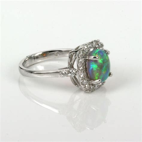 Opel Rings by Buy Lightning Ridge Opal Ring With 26 Diamonds Sold Items