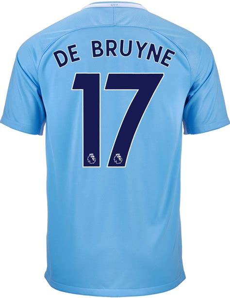Nike Kevin De Bruyne Manchester City Home Jersey 2017-18 ...