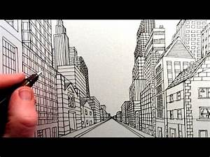 How to Draw a City Street View in One Point Perspective ...
