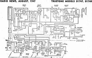 Truetone Models D1747  D1748 Schematic  U0026 Parts List